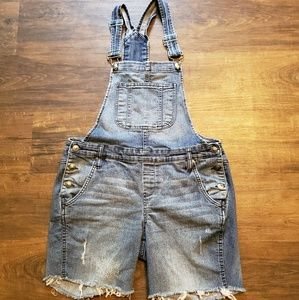 L.e.i. Distressed Overalls Womens Large